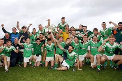 The Moorefield team celebrate another Kildare SFC triumph.<br />&#169;INPHO/Lorraine O&#39;Sullivan.