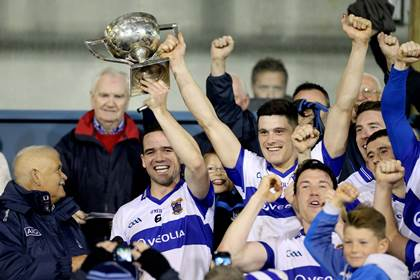 Title #27. St Vincent&#39;s Ger Brennan and Diarmuid Connolly lift the trophy.<br />&#169;INPHO/Ryan Byrne.