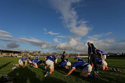 Cratloe players warm down after the Thurles Sarsfields game.<br />&#169;INPHO/Ryan Byrne.