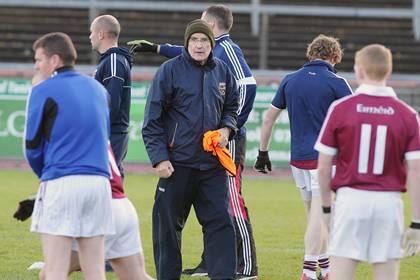 Slaughtneil boss Mickey Moran before the Ulster club SFC semi-final against Clontibret at Healy Park.<br />&#169;INPHO/Presseye/Kelvin Boyes.