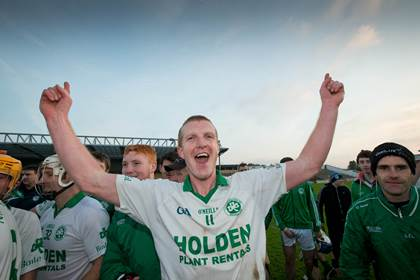 Henry Shefflin celebrates Ballyhale&#39;s Kilkenny SHC final win over Clara.<br />&#169;INPHO/Morgan Treacy.