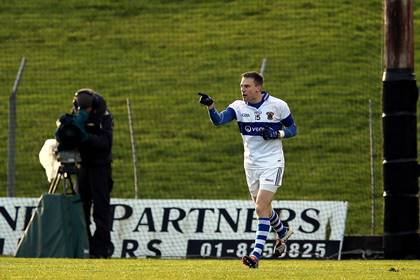 St Vincent&#39;s Tomas Quinn celebrates scoring the only goal in the Leinster club SFC final.<br />&#169;INPHO/Ryan Byrne.