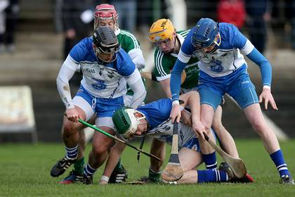 Action from the Waterford Crystal Cup quarter-final between Limerick and Waterford in Kilmallock.<br />&#169;INPHO/Donall Farmer.