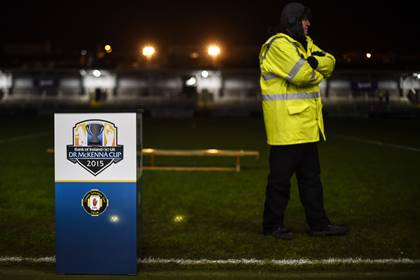 The Athletic Grounds, Armagh all set for the McKenna Cup final.<br />&#169;INPHO/Presseye/Russell Pritchard.