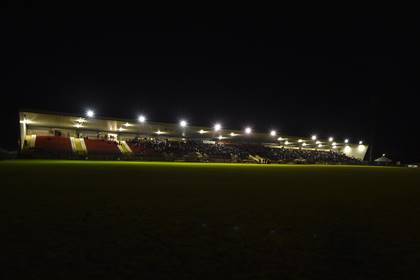 LIGHTS OUT... General view of Healy Park after the floodlights went off during the second half of Tyrone and Monaghan.<br />&#169;INPHO/Presseye/Russell Pritchard.