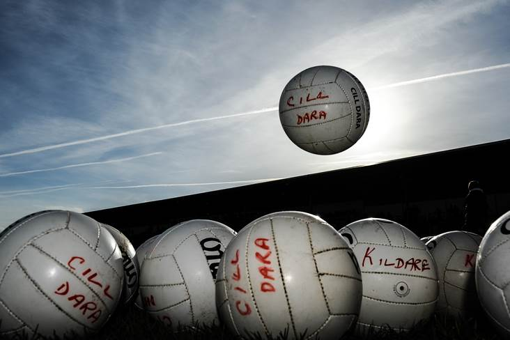 Kildare match balls ©INPHO/Tommy Grealy.