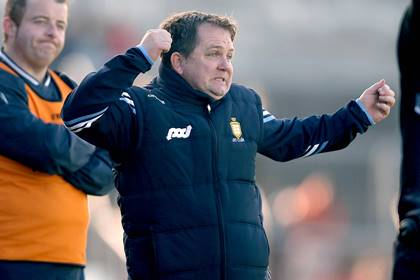 Clare manager Davy Fitzgerald reacts to a missed opportunity against Dublin.<br />&#169;INPHO/Donall Farmer.