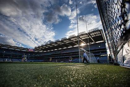 General view of the action during the FL Division 4 final at Croke Park.<br />&#169;INPHO/Cathal Noonan.