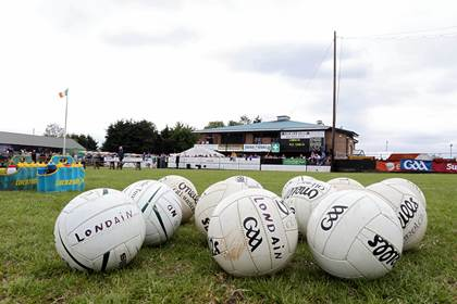 General view of match balls before the London versus Roscommon Connacht SFC quarter-final game in Ruislip.<br />&#169;INPHO/Gerry McManus.