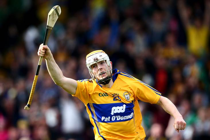 Wolfe Tones&#39; Aaron Cunningham in action for Clare.<br />&#169;INPHO/Cathal Noonan.