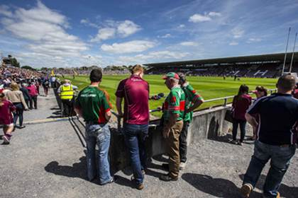 Galway and Mayo supporters arriving before the Connacht SFC semi-final at Pearse Stadium, Salthill.<br />&#169;INPHO/Cathal Noonan.