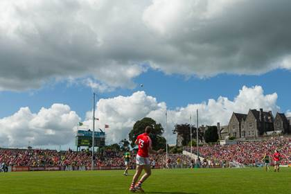 Cork&#39;s Colm O&#39;Neill attempts a late free in the drawn Munster SFC final versus Kerry.<br />&#169;INPHO/Ryan Byrne.