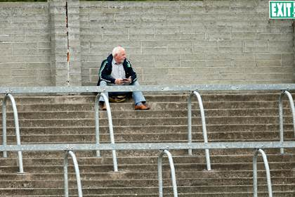 A Fermanagh fan before the All-Ireland SFC Qualifiers Round 4A tie versus Wesmteath at Breffni Park, Cavan.<br />&#169;INPHO/James Crombie.