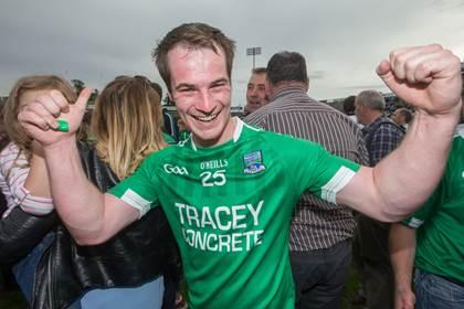 Fermanagh&#39;s Ruairi Corrigan celebrates.<br />&#169;INPHO/James Crombie.
