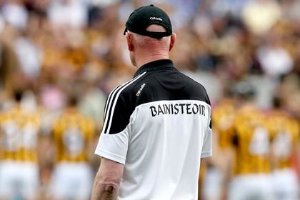 Kilkenny manager Brian Cody looks on as the Kilkenny team photo is taken.<br />&#169;INPHO/James Crombie.