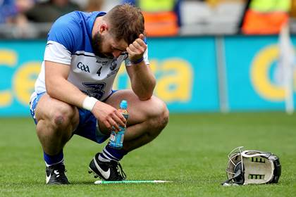 Waterford&#39;s Noel Connors dejected after the game.<br />&#169;INPHO/James Crombie.