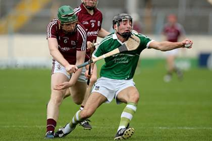 Limerick&#39;s Pat Ryan and Shane Cooney of Galway during the All-Ireland U21HC semi-final.<br />&#169;INPHO/Ryan Byrne.