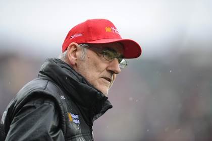 Tyrone manager Mickey Harte.<br />&#169;INPHO/Tommy Grealy.
