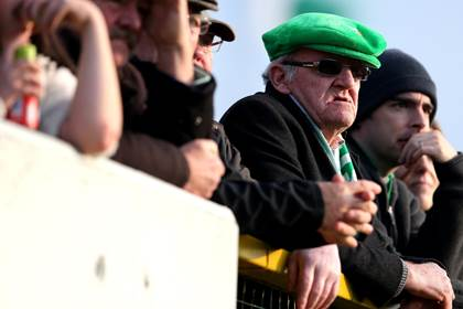 Emmet Og, Killoe fans look on during the Longford SFC final versus Abbeylara at Pearse Park.<br />&#169;INPHO/Ryan Byrne.