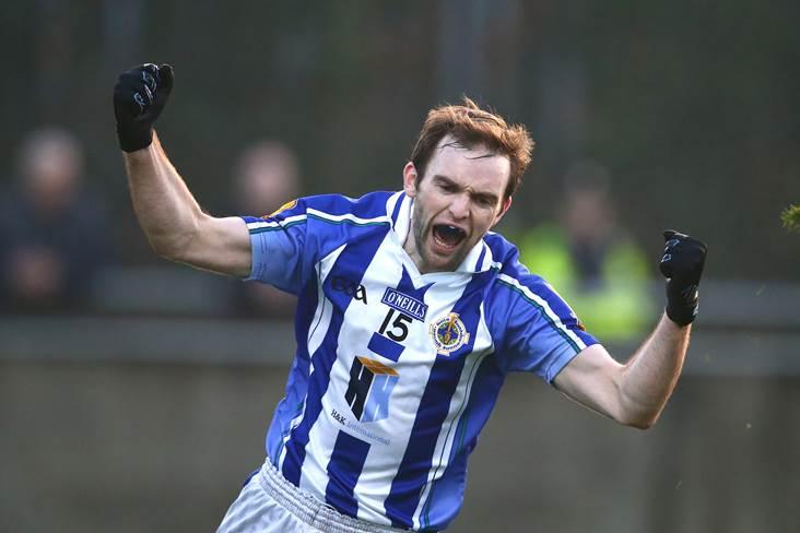 Ballyboden St Enda&#39;s Andrew Kerin celebrates.<br />&#169;INPHO/Cathal Noonan.