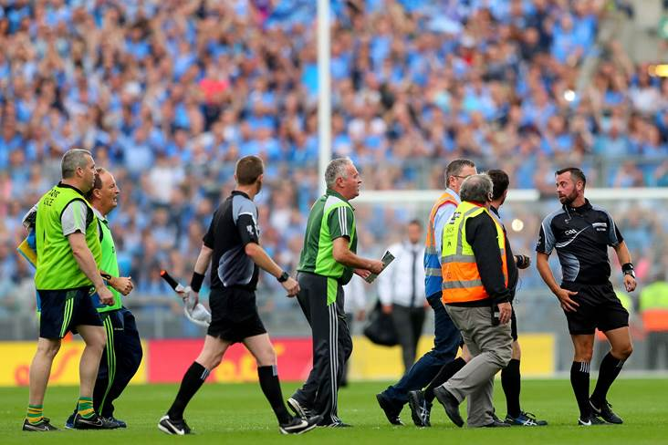 Objects thrown at referee David Gough