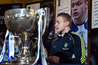 Colin Walshe at the launch of the Allianz Football League in Belfast. INPHO