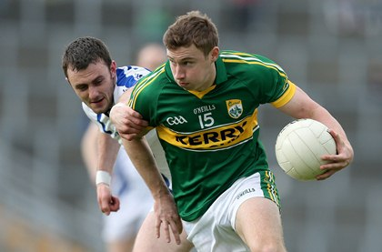 Waterford&#39;s Tadhg O hUallach&#225;in and James O&#39;Donoghue of Kerry<br />&#169;INPHO/James Crombie