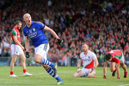 Kerry&#39;s Kieran Donaghy celebrates scoring a goal <br />&#169;INPHO