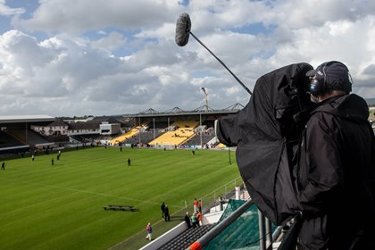 The Sky Sports TV crew at Nowlan Park today<br />&#169;INPHO