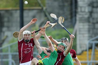 Action from the 2013 Kilkenny SHC final between Carrickshock and Clara at Nowlan Park.<br />&#169;INPHO/Morgan Treacy.