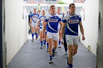 Colm Begley and the Laois team make their way back to the dressing rooms after their warm up.<br />&#169;INPHO/Cathal Noonan.