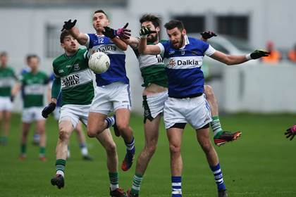 Action from the Leinster club SFC final between St Vincent&#39;s and Portlaoise.<br />&#169;INPHO/Donall Farmer.