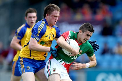 Mayo&#39;s Cian Hanley and Ronan Raftery of Roscommon<br />&#169;INPHO