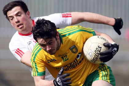 Donegal&#39;s Ryan McHugh and Tyrone&#39;s Ronan O&#39;Neill<br />&#169;INPHO