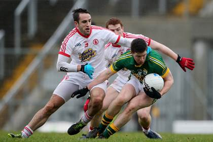 Kerry&#39;s Kieran O&#39;Leary and Mark Donnelly of Tyrone.<br />&#169;INPHO/Cathal Noonan.
