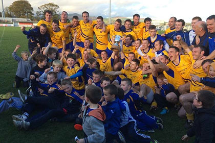 The Nire celebrate. Pic courtesy The Nire GFC.