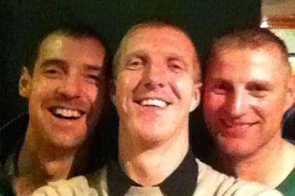 Me and the old boys cummins + @bobayl69 celebrating.Been a long time together since infants class.