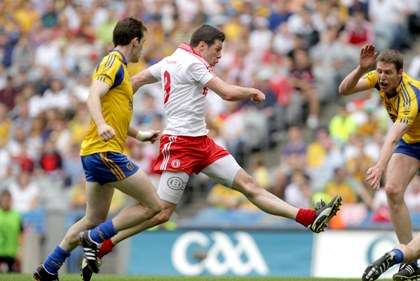 Tyrone's Sean Cavanagh scores his sides first goal against Roscommon during the All-Ireland SFC Qualifier at Croke Park ©INPHO/Morgan Treacy