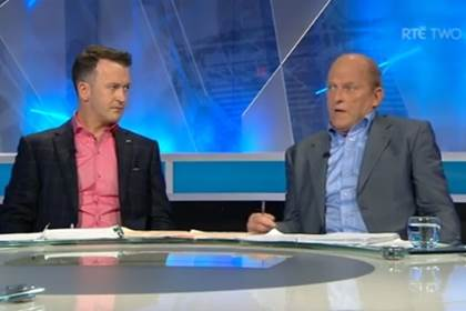 Donal Og and Ger discuss dual players on the Sunday Game ©Youtube RTE Sport