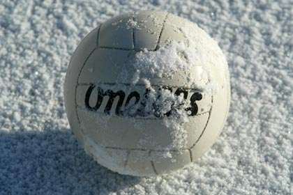 Gaelic games and snow are not happy bedfellows