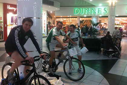 Erin Go Bragh have a fundraising cycleton this weekend in Blanchardstown Shopping Centre