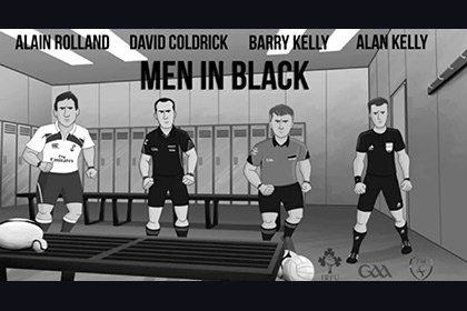Men in Black featuring GAA stars barry Kelly and David Coldrick