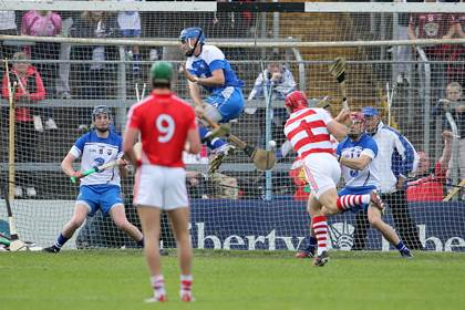 Waterford goalkeeper Stephen O&#39;Keeffe saves a penalty from Cork goalkeeper Anthony Nash<br />&#169;INPHO