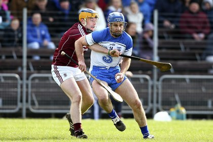 Waterford&#39;s Michael Walsh in action against Galway&#39;s Paul Killeen<br />&#169;INPHO