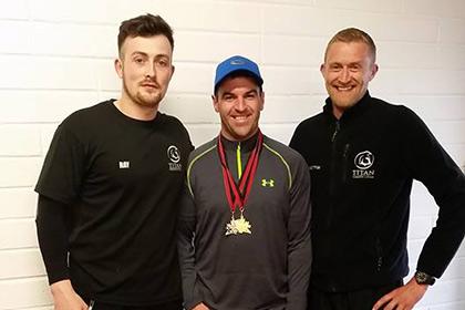 Ray McManus (Titan), World Handball Champion Gary McConnell and Paul McManus (Titan)