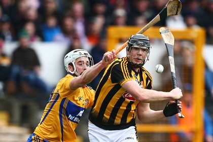 Kilkenny&#39;s Walter Walsh and Patrick O&#39;Connor of Clare<br />&#169;INPHO